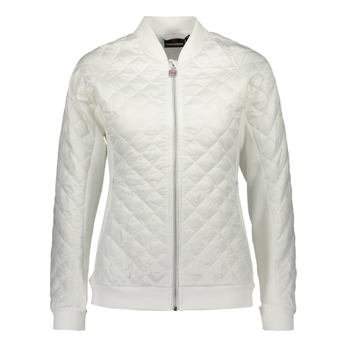 Catmandoo Women's Brill White Quilted Hybrid Jacket Product Image Front 891006