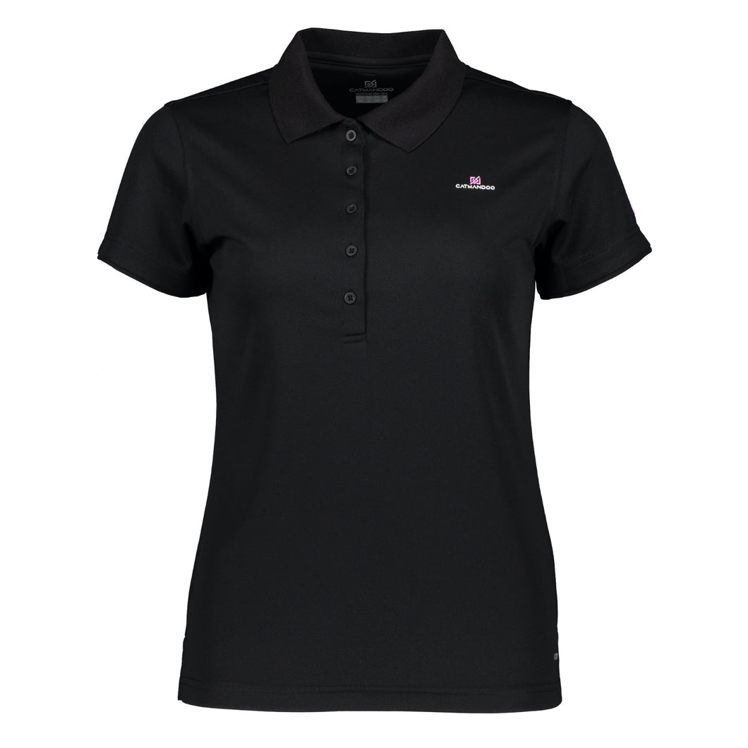 Catmandoo Women's Cara Polo Shirt Black Product Image Front 881020