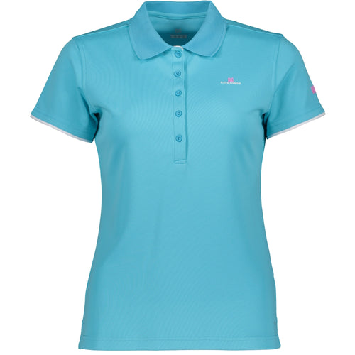 Catmandoo Women's Cara Polo Shirt Blue Curacao Product Image Front 881020