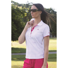 Catmandoo Women's Cara Polo Shirt White Model Image Front 881020