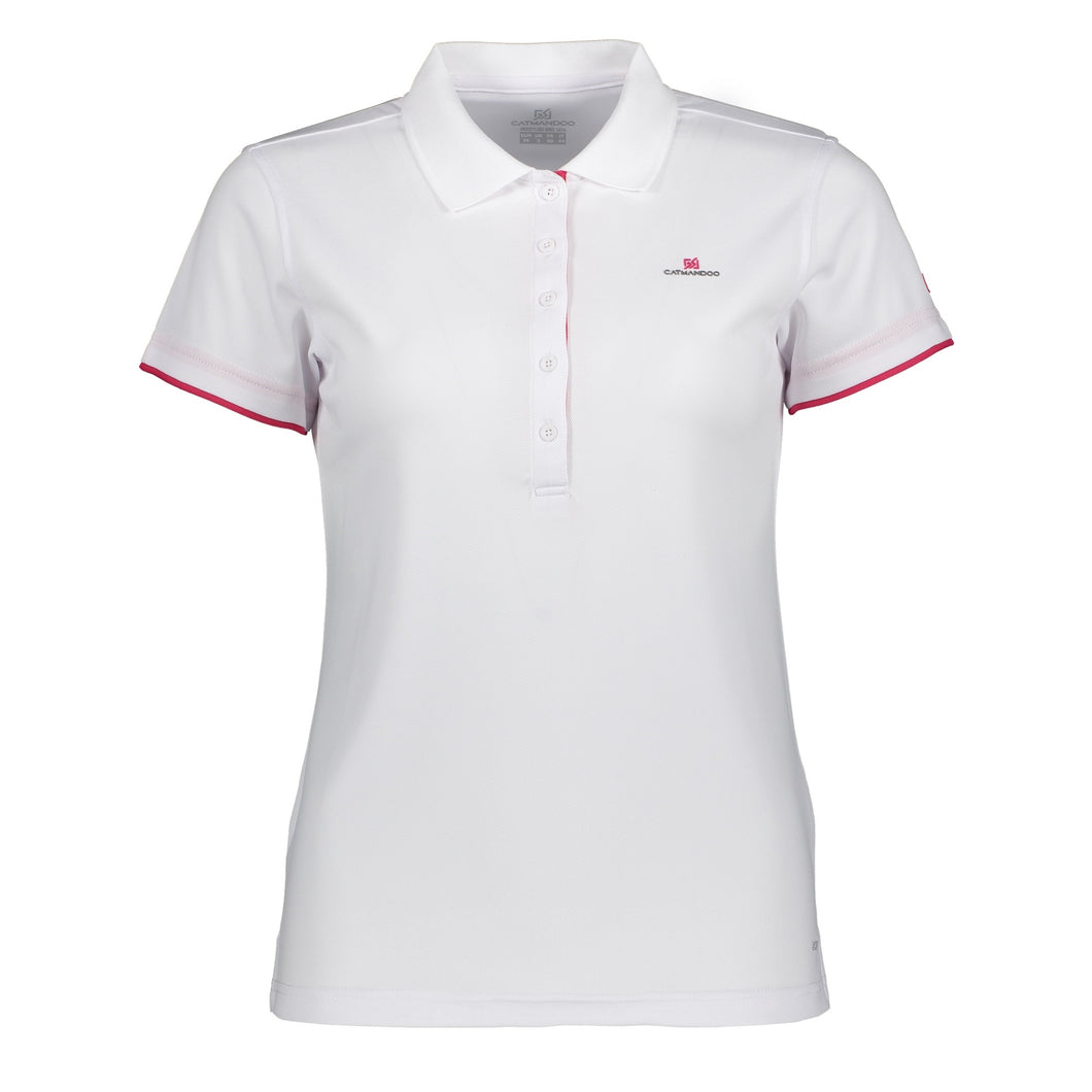Catmandoo Women's Cara Polo Shirt White Product Image Front 881020