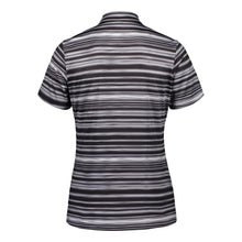Catmandoo Women's Glory Black Print Polo Shirt Product Image Back 891012