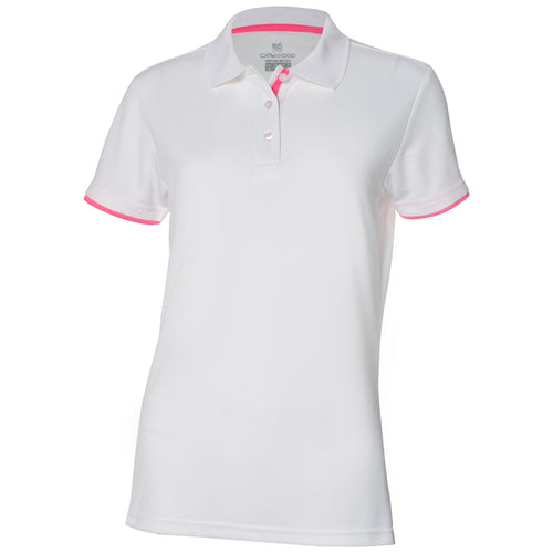 Catmandoo Women's Helen White Polo Shirt Product Front 871017