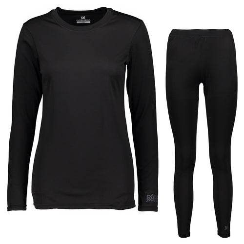 Catmandoo Helli Women's Black Base Layer Set Top Leggings Front 862407