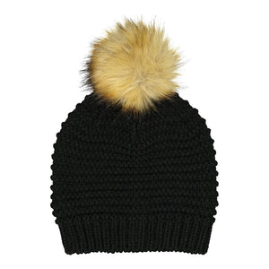 Catmandoo Ilo Reverse-Knit Bobble Hat in Black Product Image 882318_060