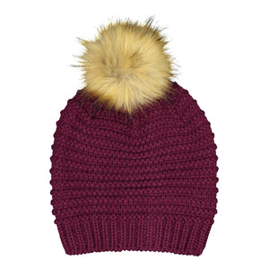 Catmandoo Ilo Reverse-Knit Bobble Hat in Intensive Purple Product Image 882318_060