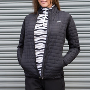 Catmandoo Women's Inbee Black Hybrid Jacket Model Image Front Open 871003