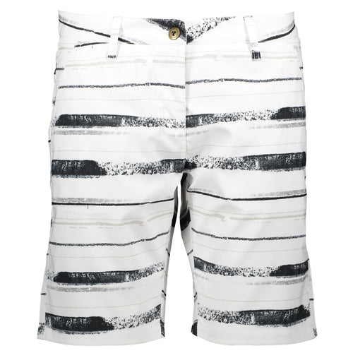 Catmandoo Women's Judyn White Print Golf Shorts Product Image Front 871022