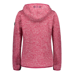 Catmandoo Women's Mew Bright Rose Fleece Knit Jacket Product Image Back 892022