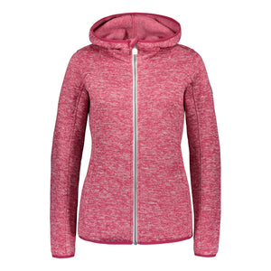 Catmandoo Women's Mew Bright Rose Fleece Knit Jacket Product Image Front 892022