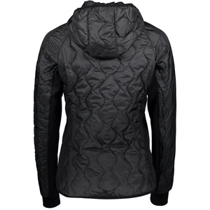 Catmandoo Women's Mey Hooded Hybrid Midlayer Jacket Black Product Image Back 871009
