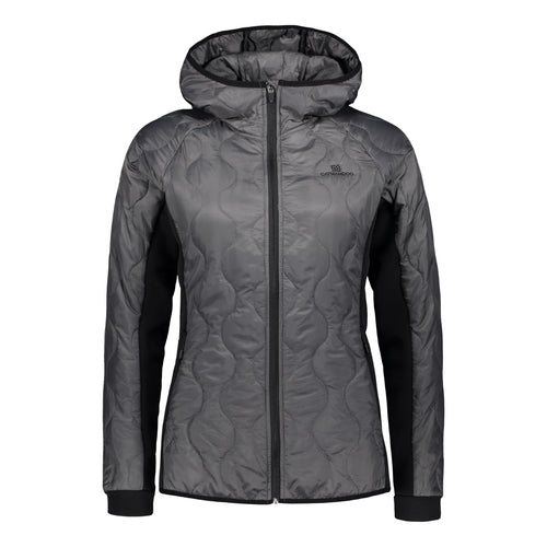 Catmandoo Women's Mey Hooded Hybrid Midlayer Jacket Steel Grey Product Image Front 871009