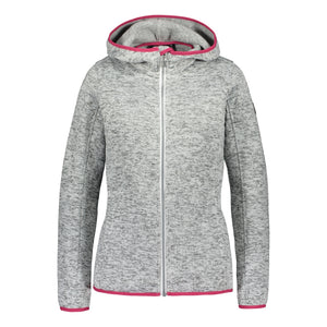 Catmandoo Women's Mew Light Grey Fleece Knit Jacket Product Image Front 892022