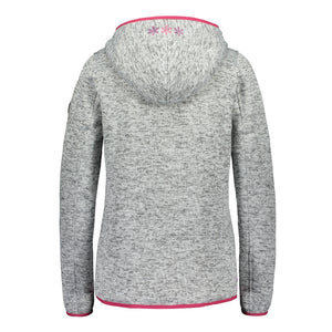 Catmandoo Women's Mew Light Grey Fleece Knit Jacket Product Image Back 892022