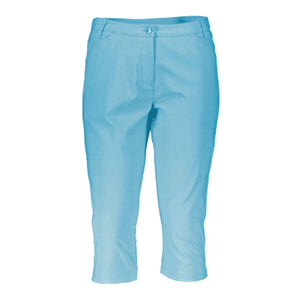 Catmandoo Women's Nemat Blue Curacao Cropped Capri Trousers Product Image Front 871034