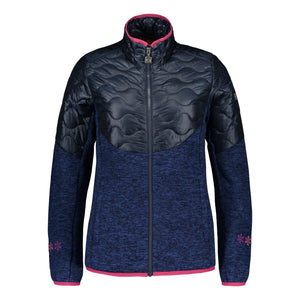 Catmandoo Women's Ollons Blue Graphite Hybrid Knit Jacket Product Image Front 892020