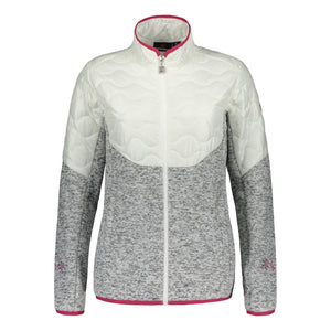 Catmandoo Women's Ollons White Hybrid Knit Jacket Product Image Front 892020