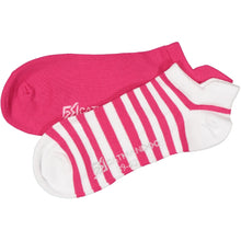 Catmandoo Oseye Bright Rose & White Striped Sock 2-Pack Product Image 881083
