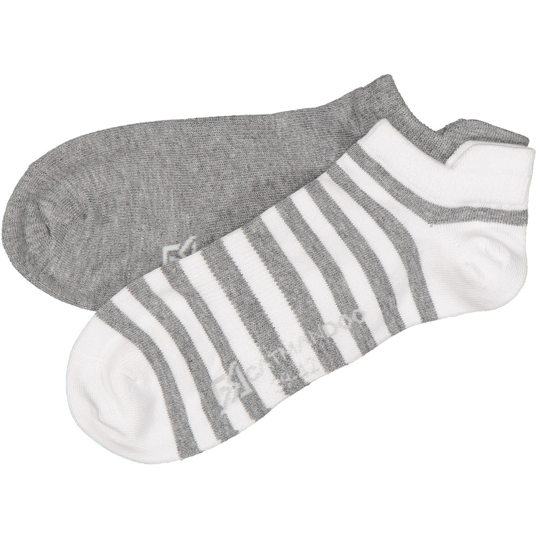 Catmandoo Oseye Grey & White Striped Sock 2-Pack Product Image 881083