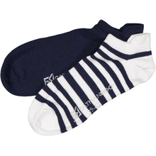 Catmandoo Oseye Navy & White Striped Sock 2-Pack Product Image 881083
