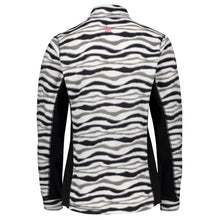 Catmandoo Sania Womens Black White Zebra Microfleece Mid Layer Top Back 882035_060P