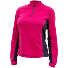 Catmandoo Sania Womens Bright Rose Microfleece Mid Layer Top Front 882035_4060b