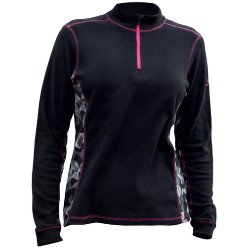 Catmandoo Women's Shirley Black Microfleece Top Product Image Front 892036
