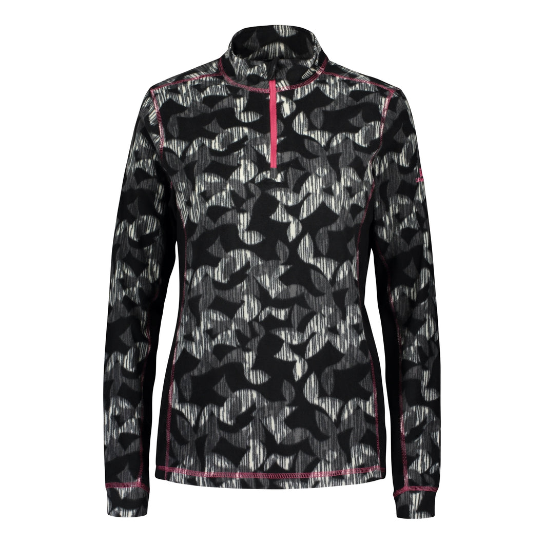 Catmandoo Women's Shirley Black Print Microfleece Top Product Image Front 892036