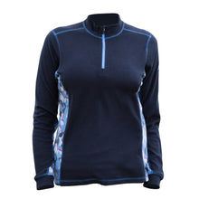 Catmandoo Women's Shirley Blue Graphite Microfleece Top Product Image Front 892036