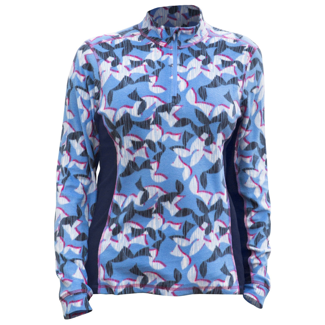 Catmandoo Women's Shirley Blue Print Microfleece Top Product Image Front 892036