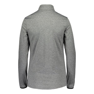Catmandoo Women's Slona Light Grey Melange Half Zip Midlayer Top Product Image Back 892034