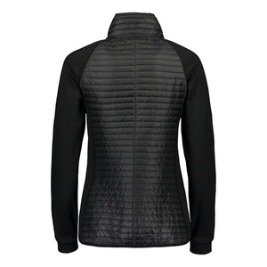 Catmandoo Women's Snazzy Black Quilted Hybrid Jacket Product Image Back 891007