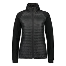 Catmandoo Women's Snazzy Black Quilted Hybrid Jacket Product Image Front 891007