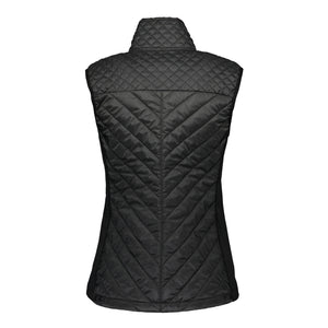 Catmandoo Women's Swish Black Quilted Hybrid Vest Product Image Back 891028