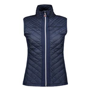 Catmandoo Women's Swish Peacoat Blue Navy Quilted Hybrid Vest Product Image Front 891028