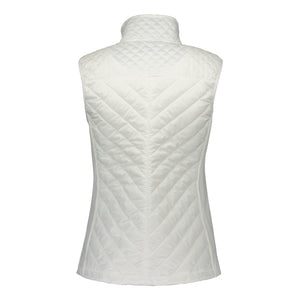 Catmandoo Women's Swish White Quilted Hybrid Vest Product Image Back 891028