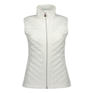 Catmandoo Women's Swish White Quilted Hybrid Vest Product Image Front 891028