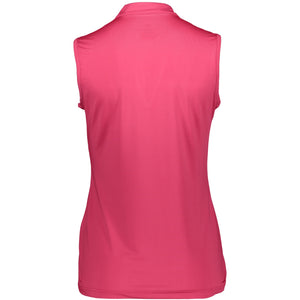 Catmandoo Women's Swona Sleeveless Polo Shirt Bright Rose Product Image Back 881021