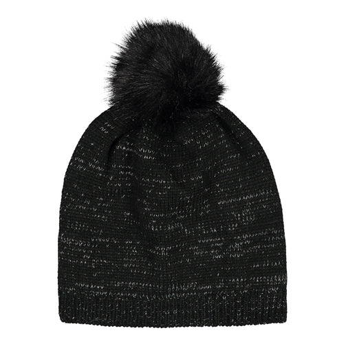 Catmandoo Zoe Glitter Yarn Bobble Hat in Black Product Image 892404_060