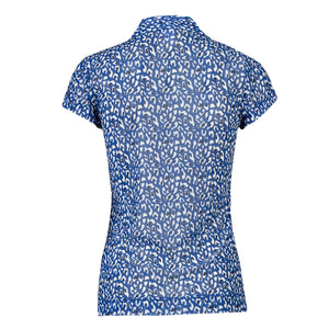 Daily Sports Women's Bella Patterned Mesh Polo Shirt Ultra Blue Product Image Back 943/154/576