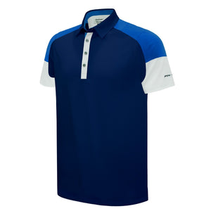Pin High Men's Damon Navy Golf Polo Shirt Product Image Front PHSH 173