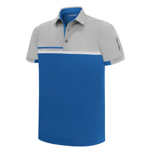 Pin High Men's Downey Blue Golf Polo Shirt Product Image Front PHSH 210