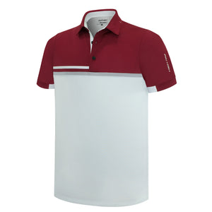 Pin High Men's Downey White Golf Polo Shirt Product Image Front PHSH 210