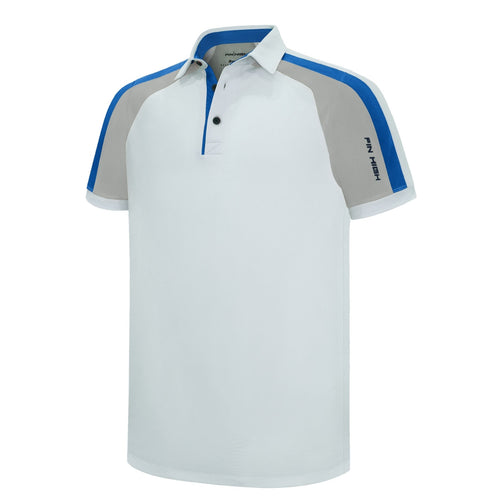 Pin High Men's Gerry White Golf Polo Shirt Product Image Front PHSH 211