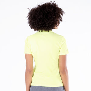 NI0210100 Nivo Nila Ladies Sunny Lime Short Sleeve Polo Shirt Product Image Rear