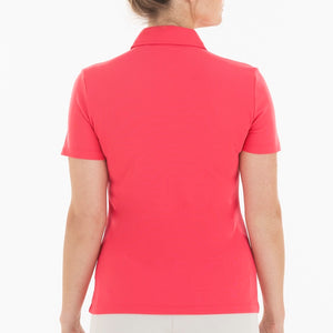 NI0210100 Nivo Nila Women's Polo Shirt Geranium Product Image Back