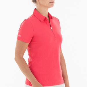 NI0210100 Nivo Nila Women's Polo Shirt Geranium Product Image Side