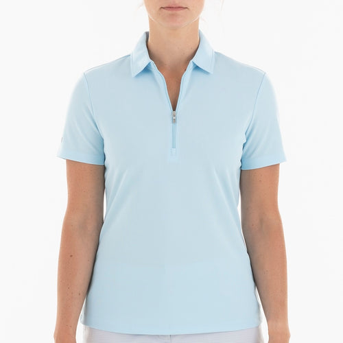 NI0210100 Nivo Nila Women's Polo Shirt Ice Blue Product Image Front