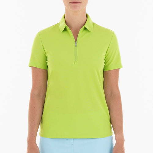 NI0210100 Nivo Nila Women's Polo Shirt Key Lime Product Image Front