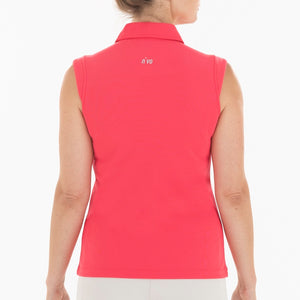 NI0210101 Nivo Nikki Women's Sleeveless Polo Shirt Geranium Product Image Back